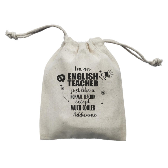 Subject Teachers 3 I'm A English Teacher Addname Mini Accessories Mini Pouch