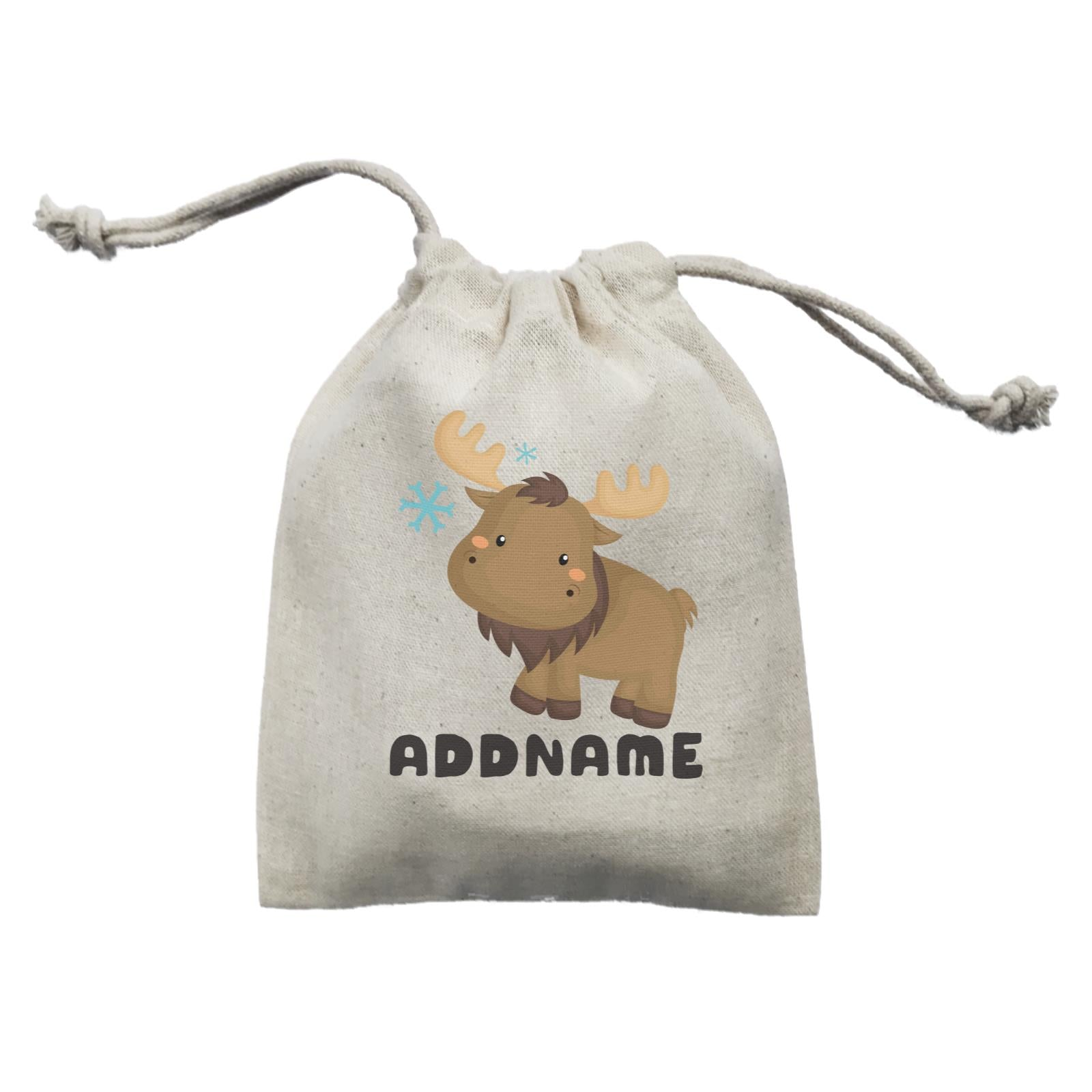 Birthday Winter Animals Moose Addname Mini Accessories Mini Pouch
