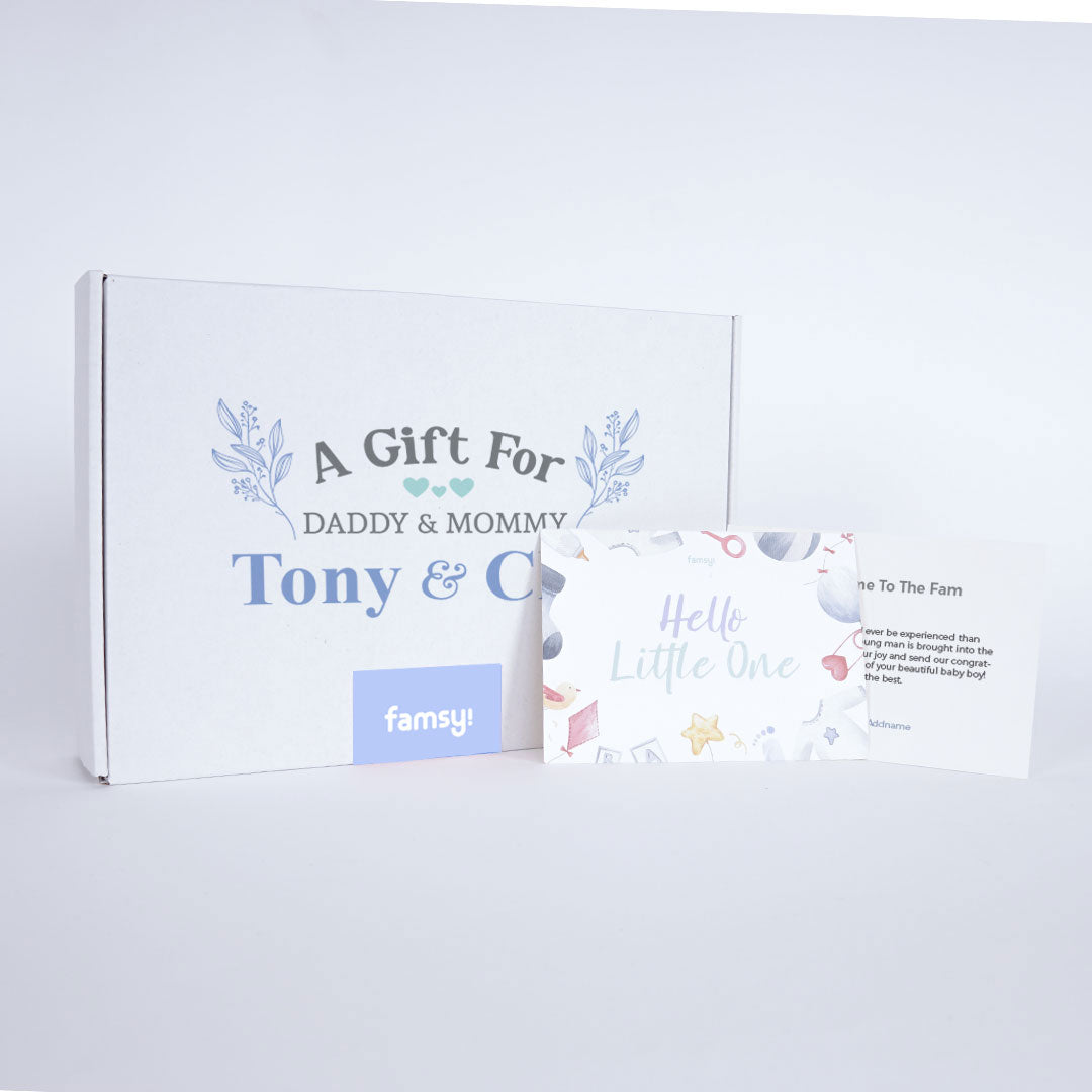 Boy Personalise Daddy & Mommy Gift Box GB