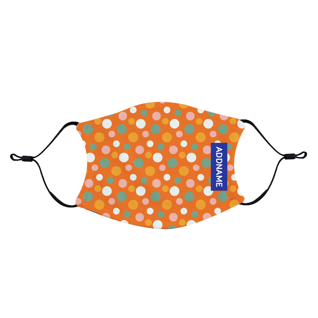 Colourful Polka Dots Fabric Face Mask with Adjustable Straps