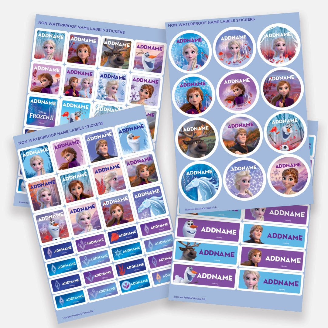 Disney Frozen 2 Destiny Calling Personalised Name Label Sticker