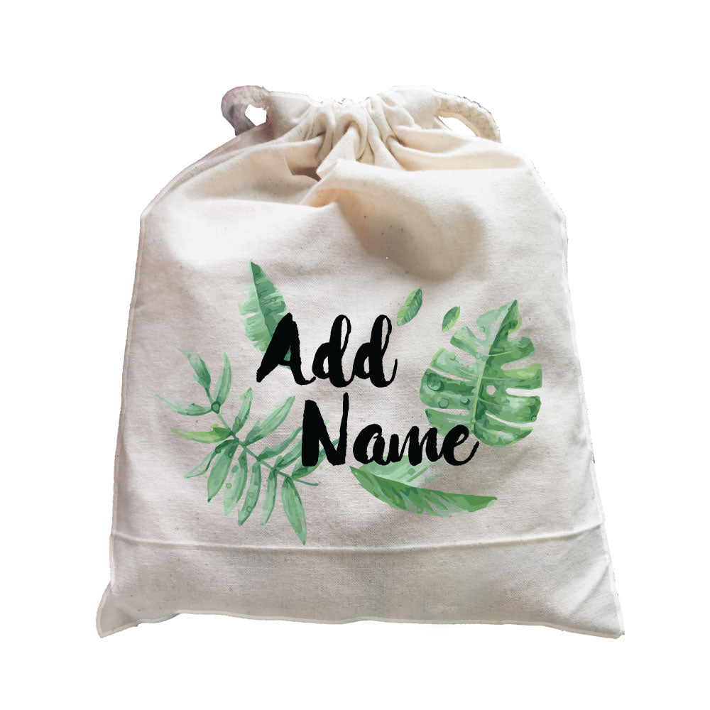 Tropical Leaves Addname Satchel (Fits 1-3 pieces)
