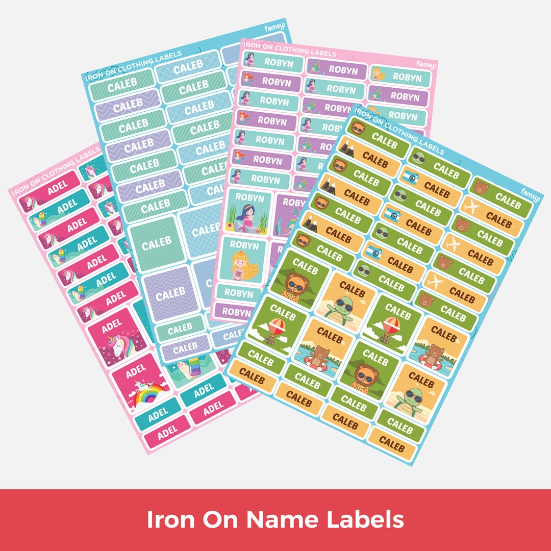 Iron On Name Labels