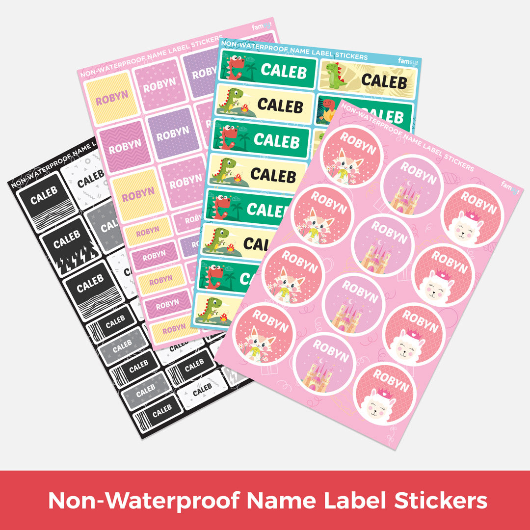 Non-Waterproof Name Label Stickers