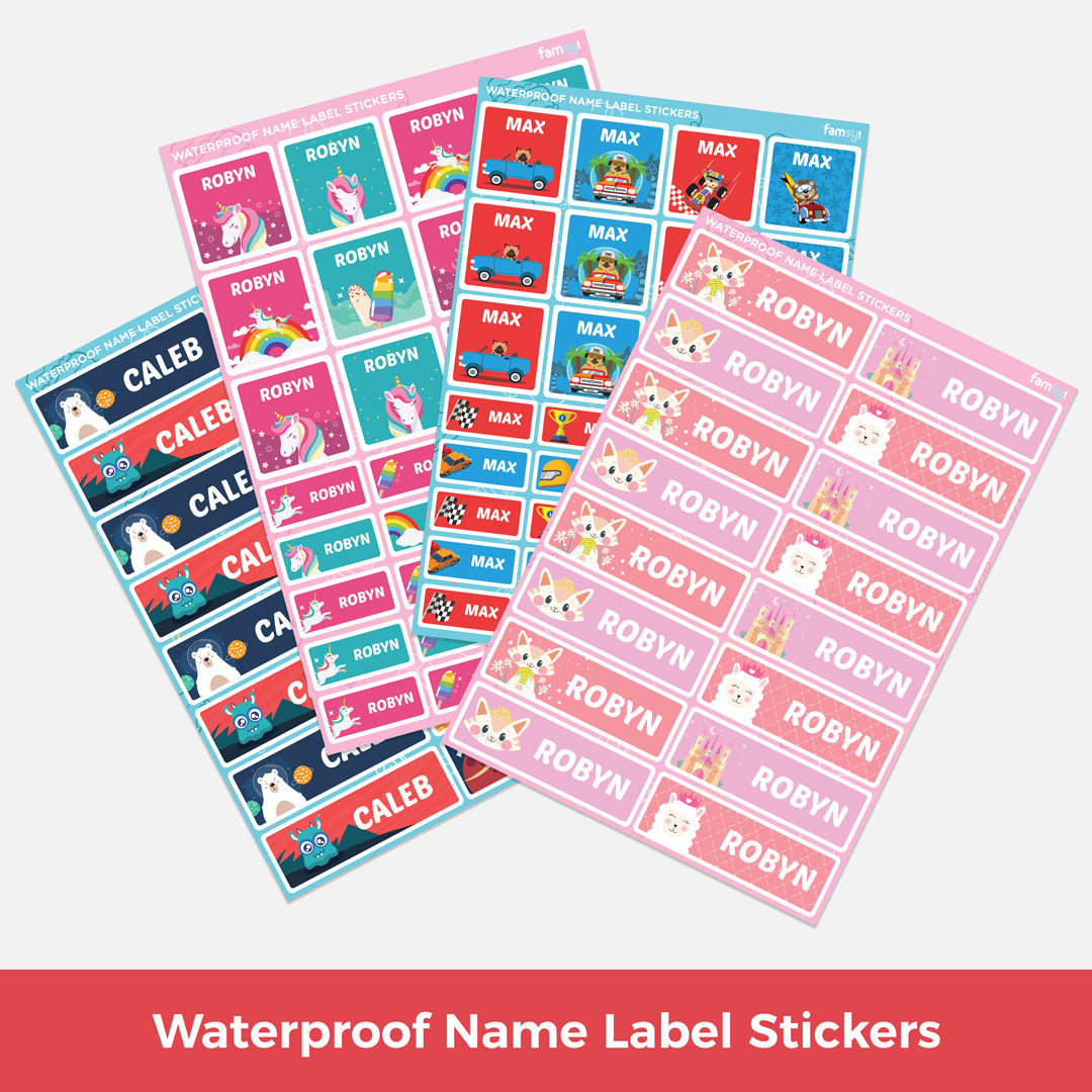 Waterproof Name Label Stickers