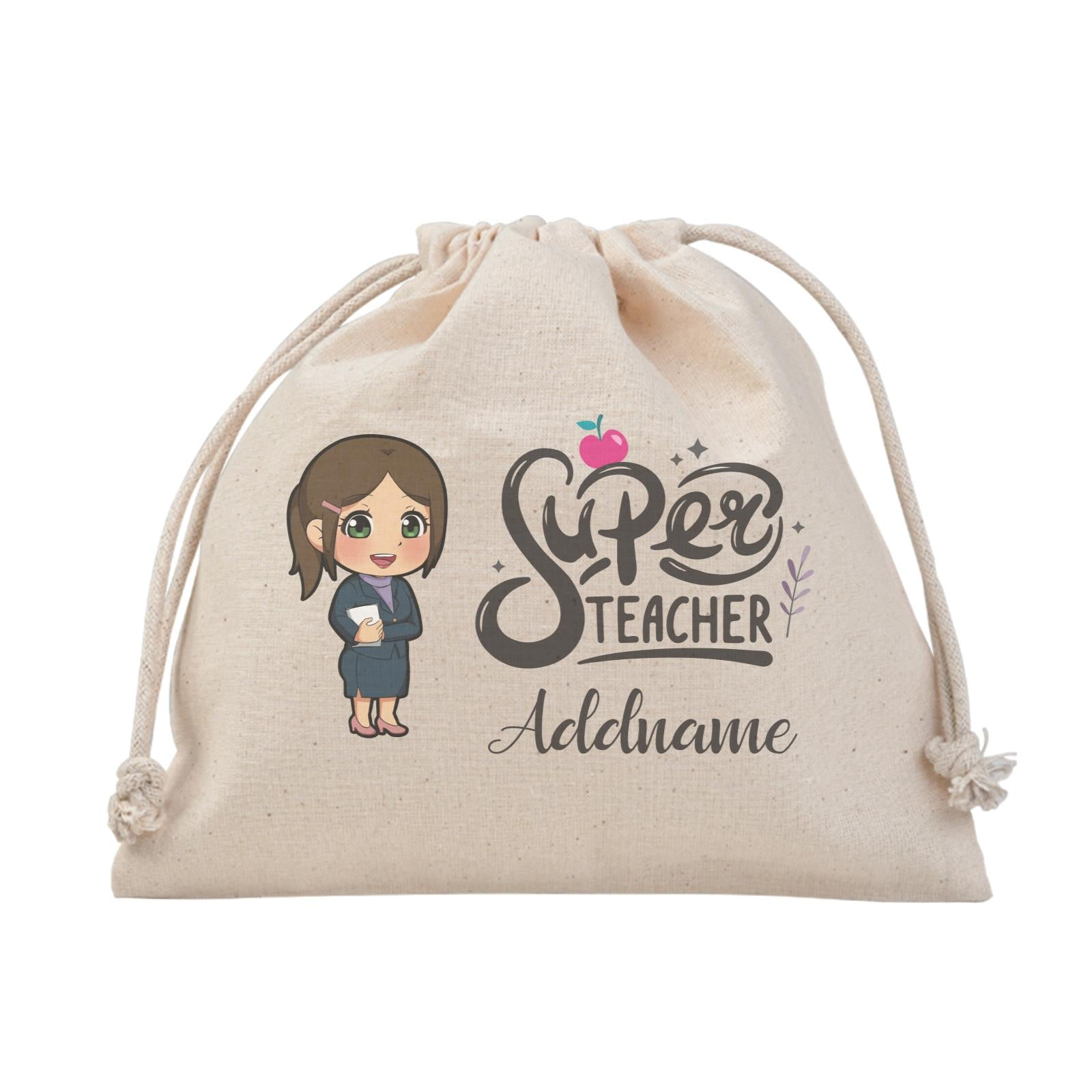 Chibi Super Teacher Chinese Female Teacher Satchel