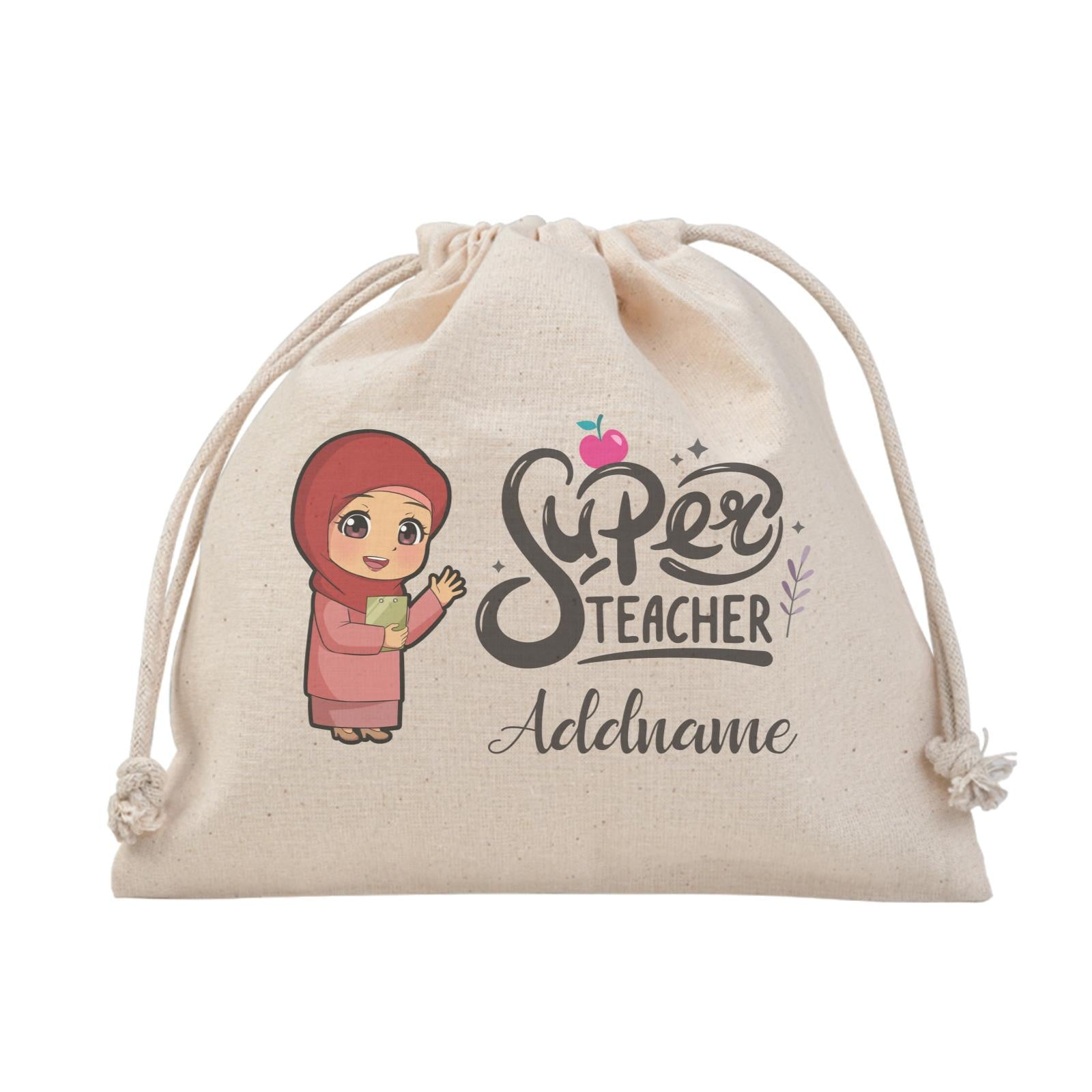 Chibi Super Teacher Malay Female Teacher Satchel