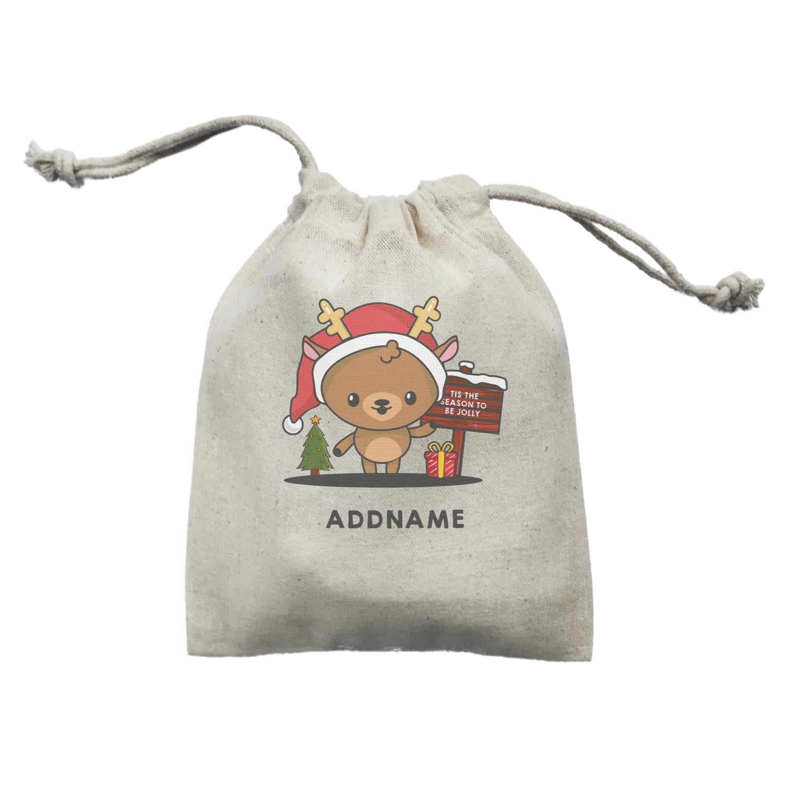 Christmas Cute Jolly Series Deer Addname Mini Accessories Mini Pouch