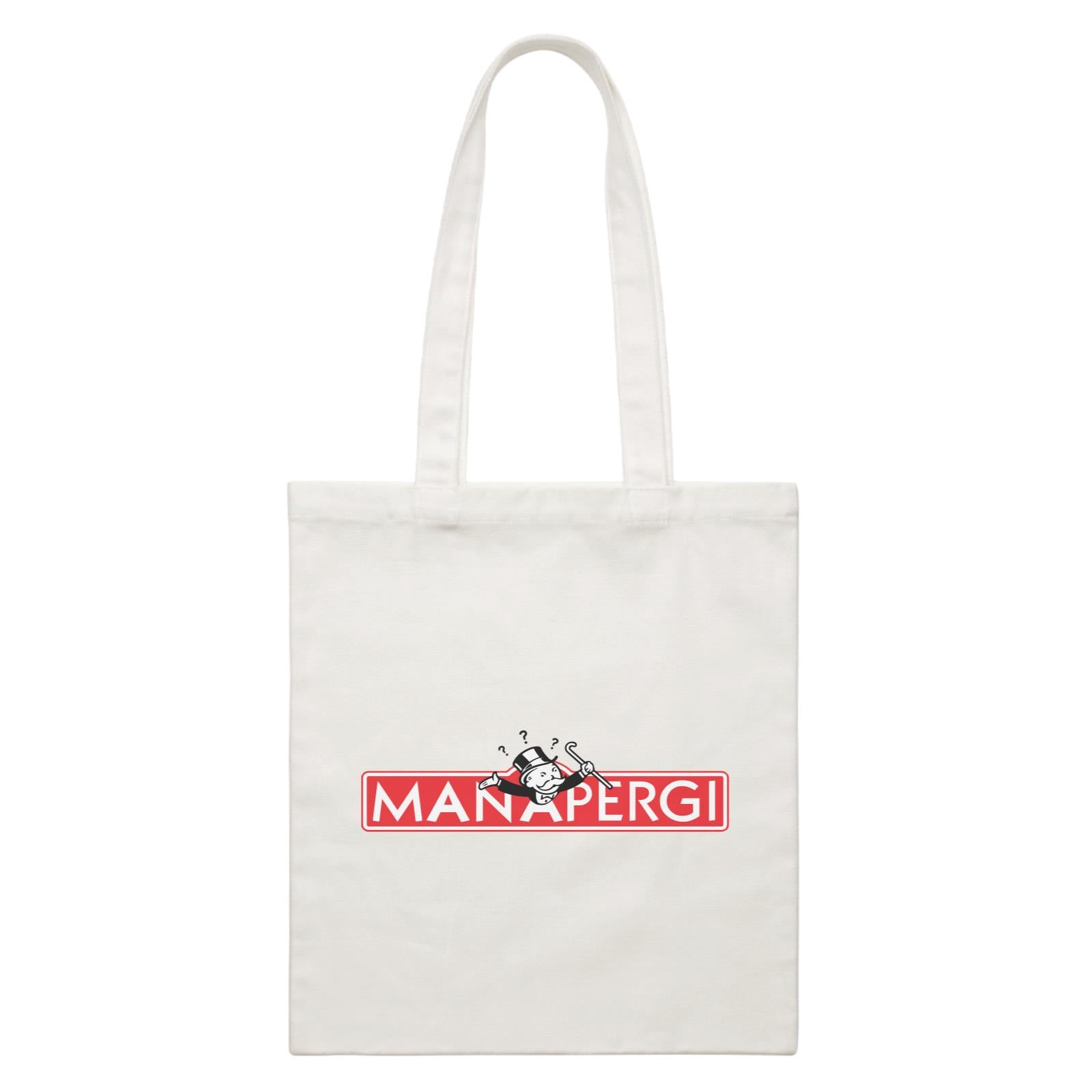 Slang Statement Manapergi Accessories White Canvas Bag