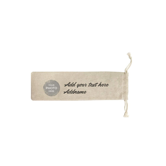 Custom Your Own Watercolor Design Addname SB Straw Pouch (No Straws included)