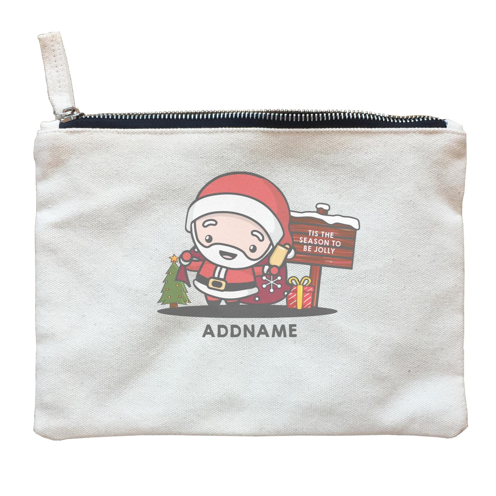 Christmas Cute Jolly Series Santa Addname Zipper Pouch