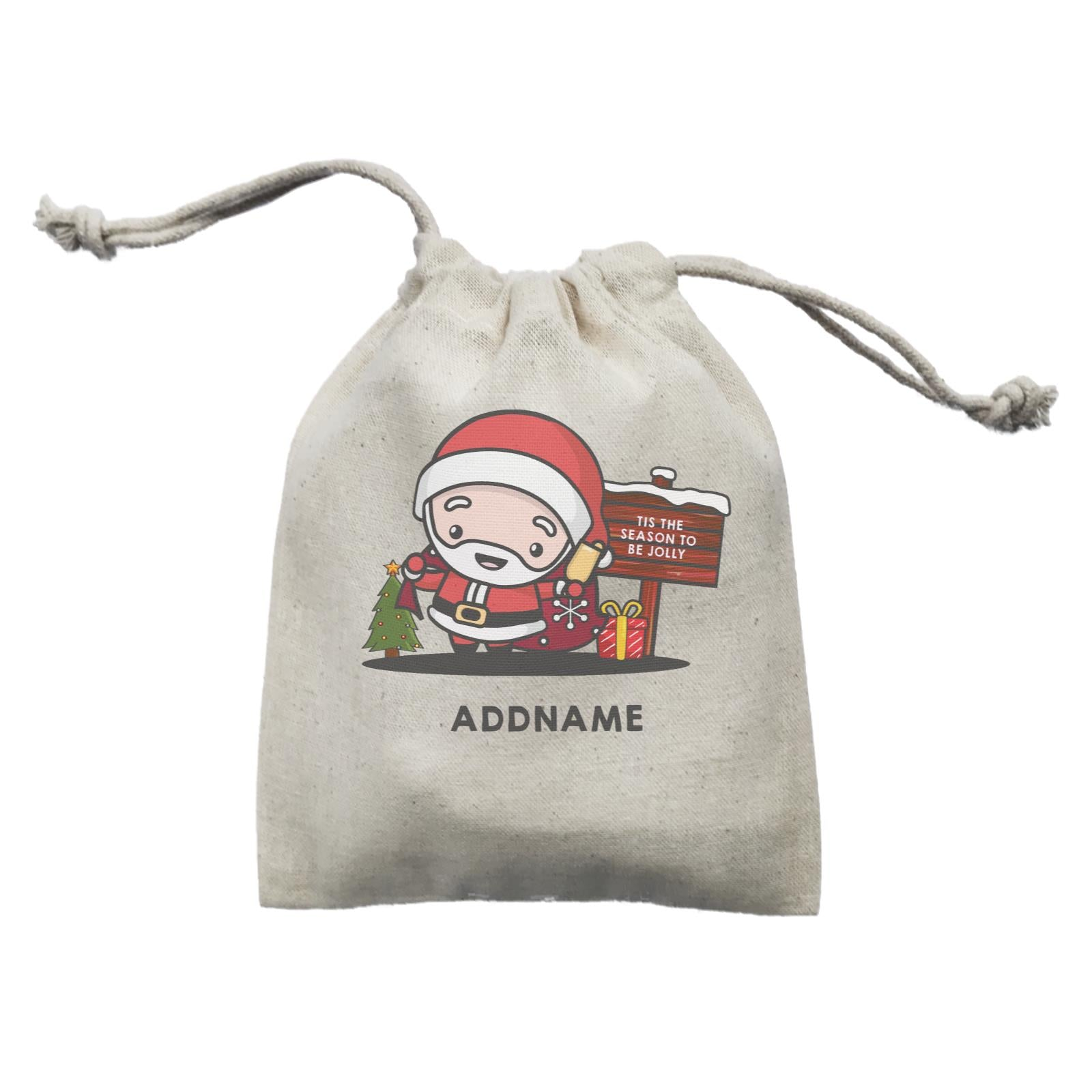 Christmas Cute Jolly Series Santa Addname Mini Accessories Mini Pouch