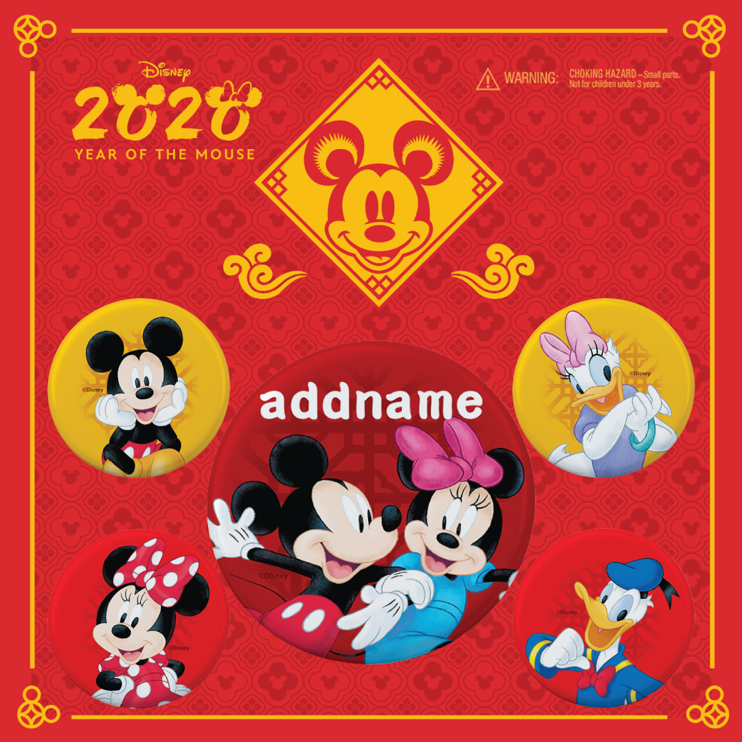 Disney CNY Mickey and Friends Pin Badge Set 2020