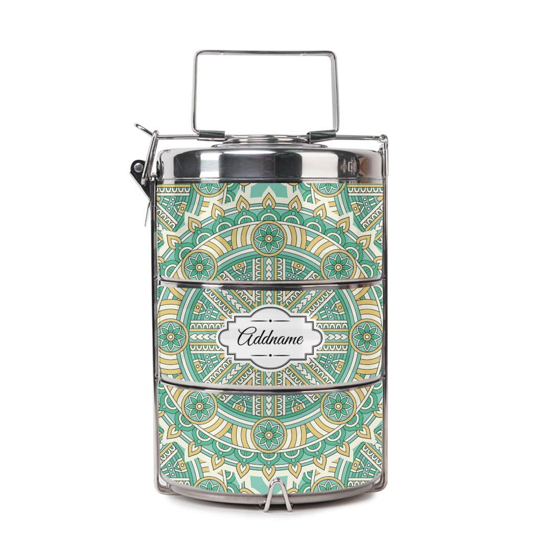 Arabsque Green Tiffin Carrier