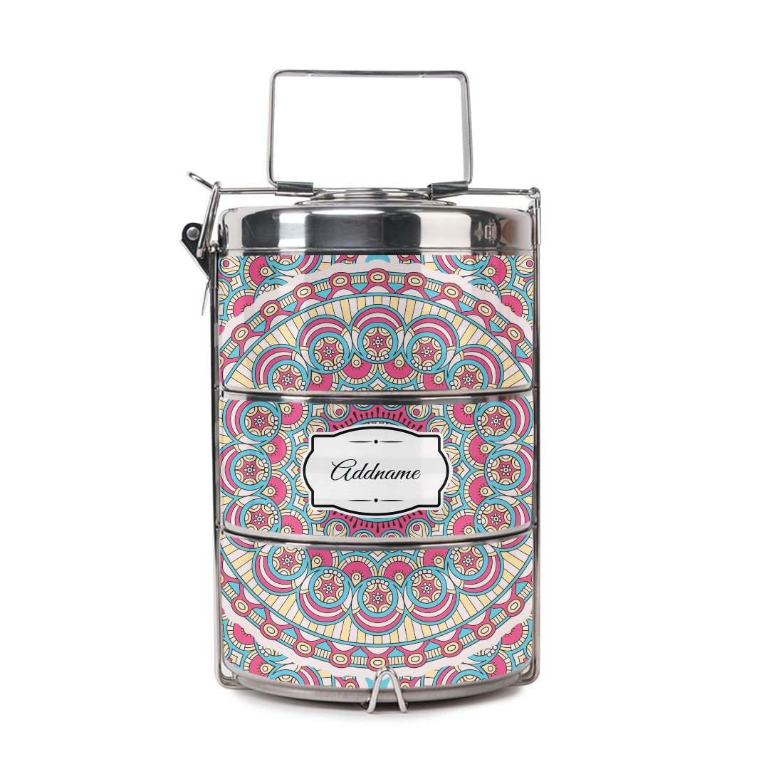 Arabsque Pink Tiffin Carrier