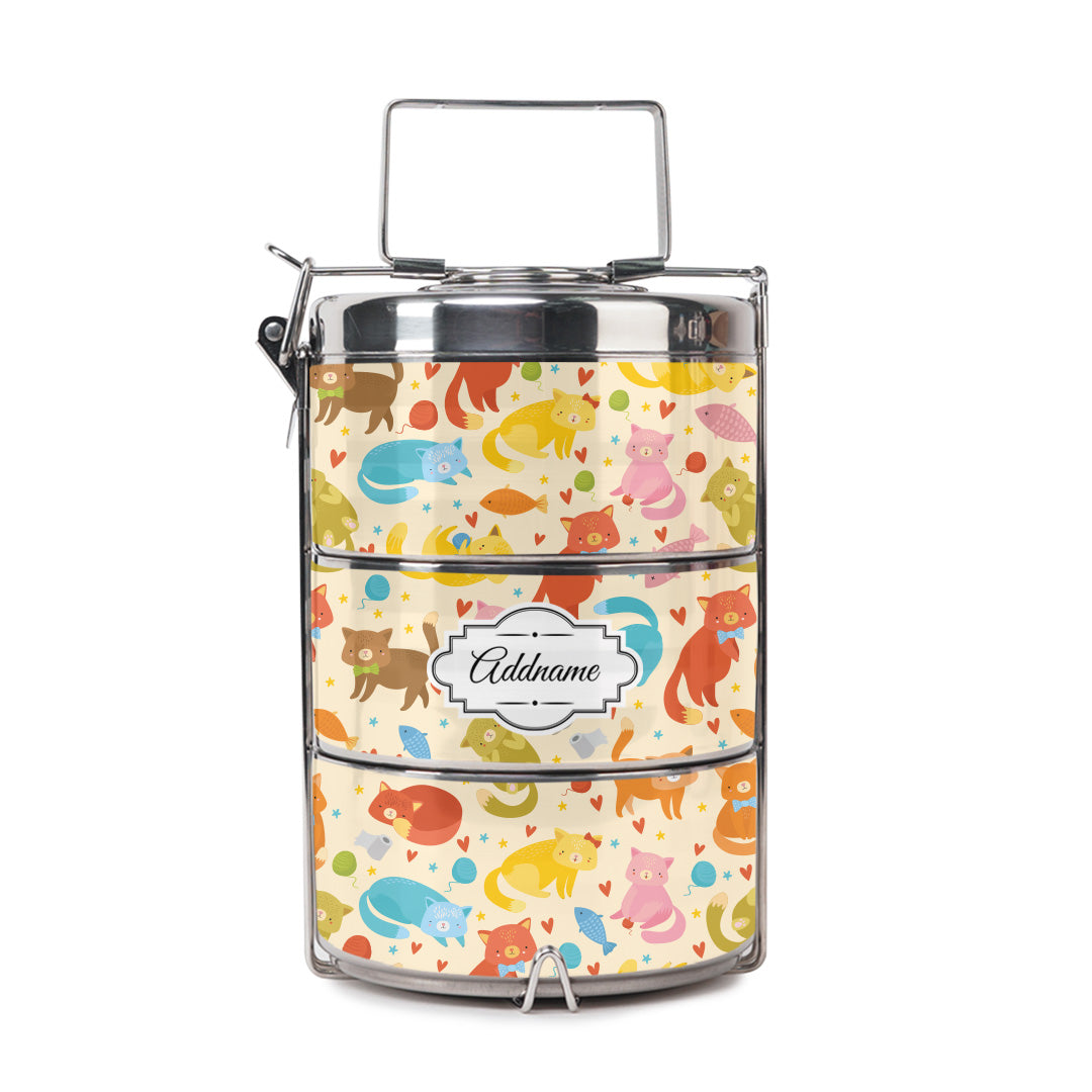 Colorful Cats Tiffin Carrier