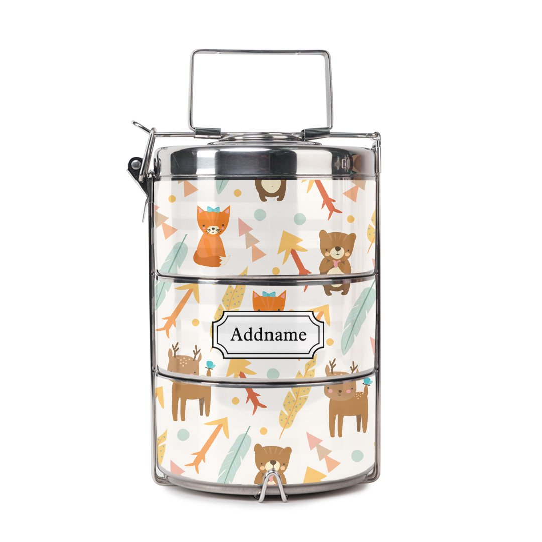 Cute Forest Friends Tiffin Carrier