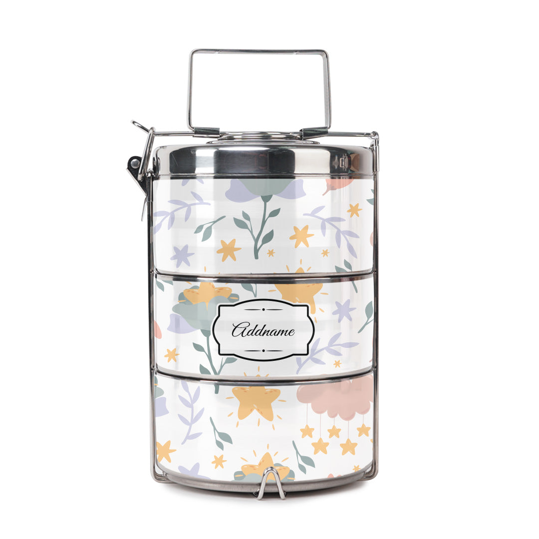 Dreamy Flowers Tiffin Carrier