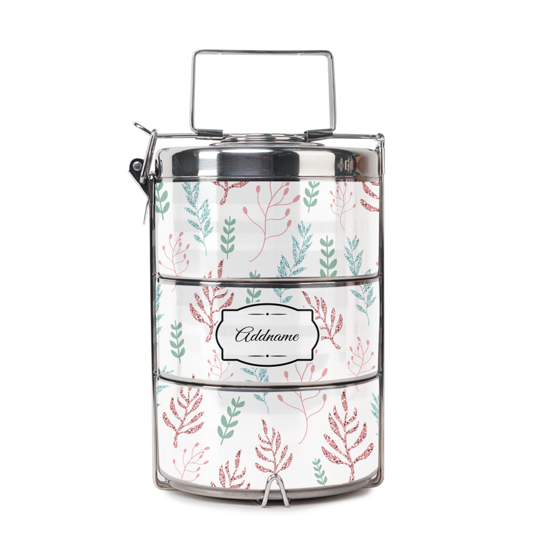 Glitter Flowers Tiffin Carrier