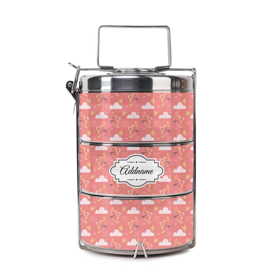 Baby Pink Arrows Tiffin Carrier