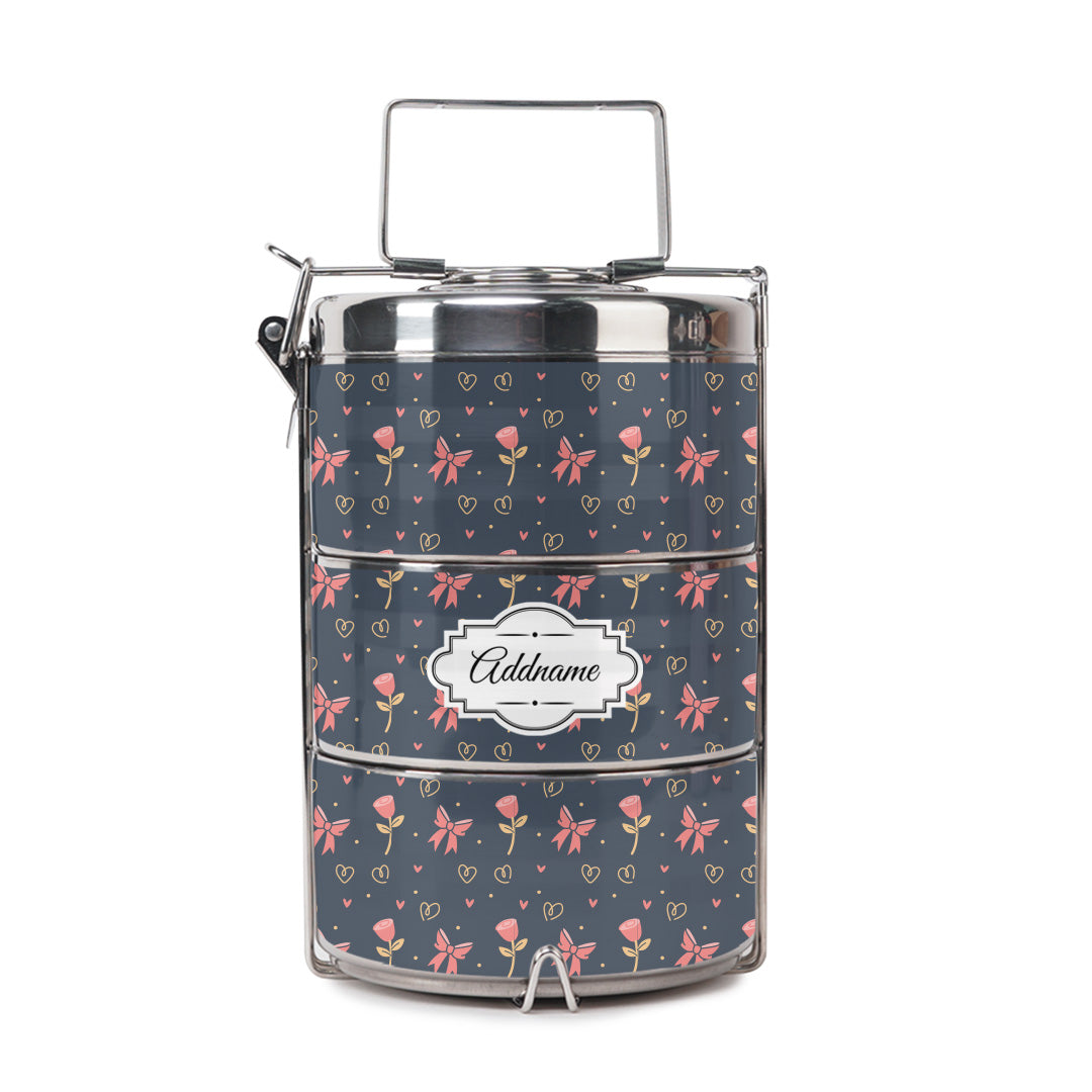 Rose Ribbon Tiffin Carrier