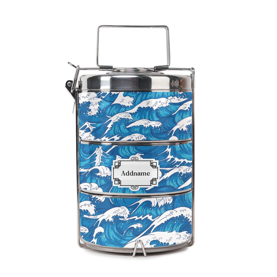 Blue Sea Wave Tiffin Carrier