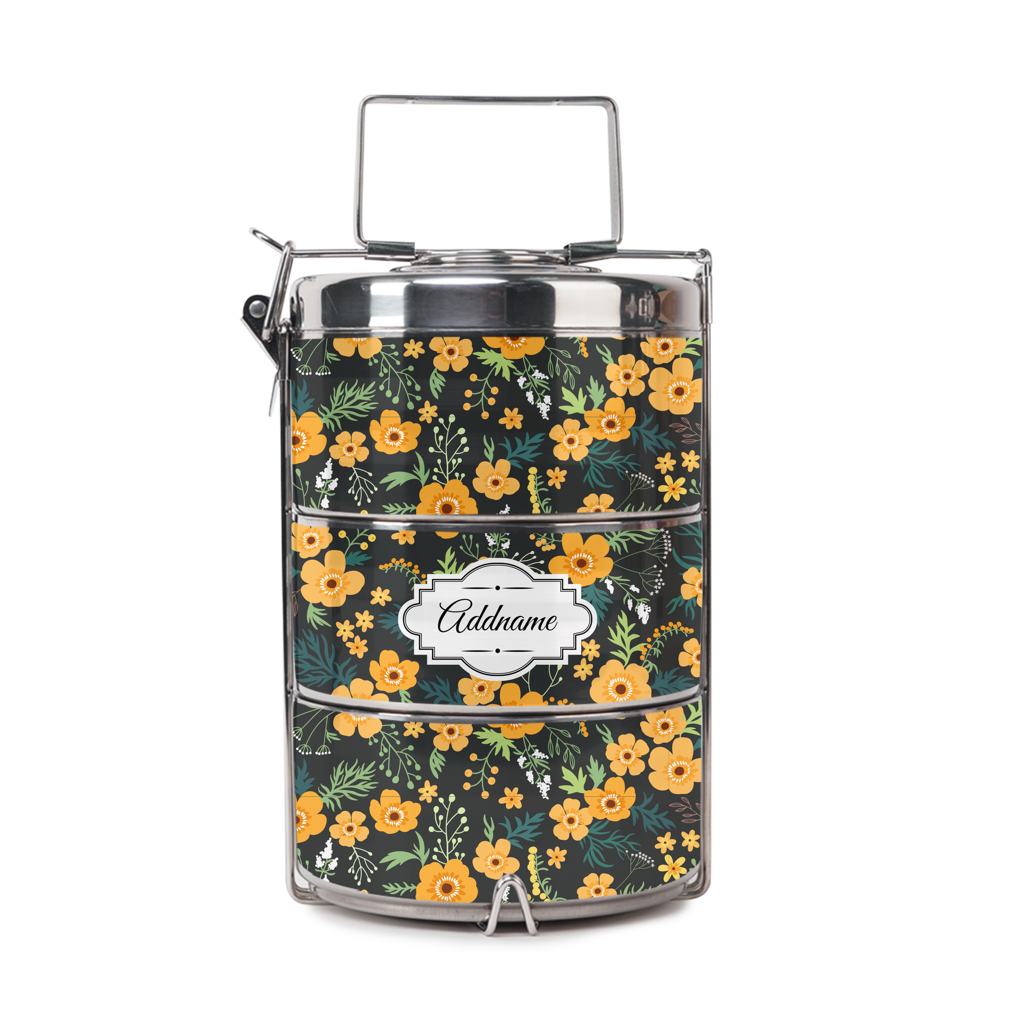 Yellow Windflower Tiffin Carrier