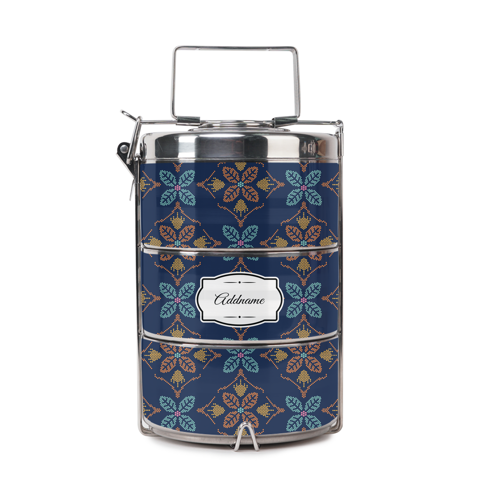 Peranakan Java Traditional Blue Tiffin Carrier