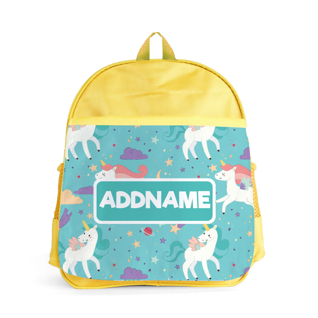 Fabulous Unicorn Yellow Kiddies Bag