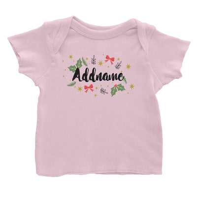 Christmas Elements Addname Baby T-Shirt  Personalizable Designs Lettering Matching Family