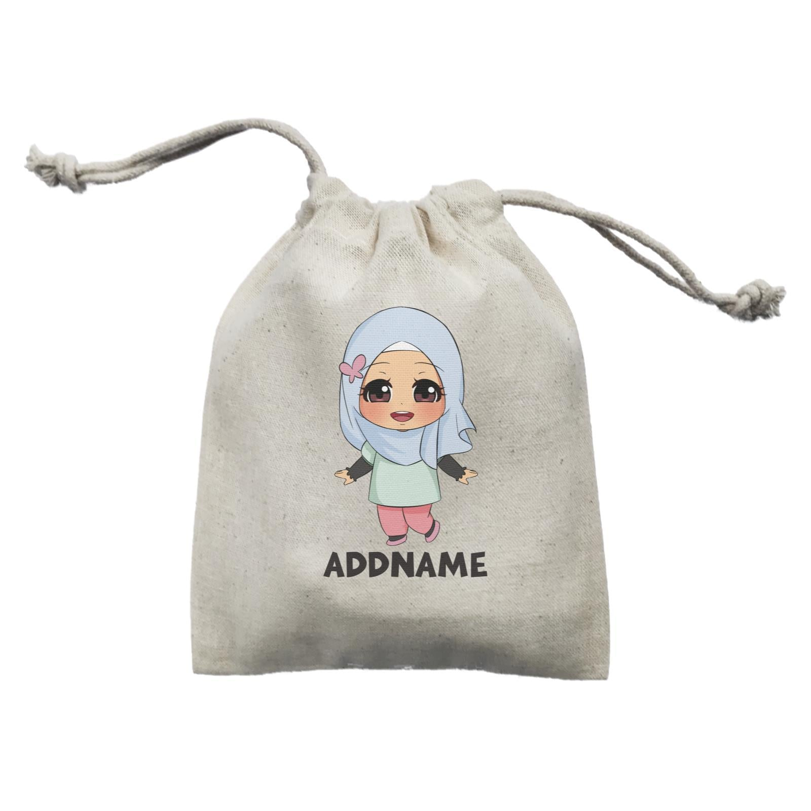 Children's Day Gift Series Little Malay Girl Addname  Mini Pouch