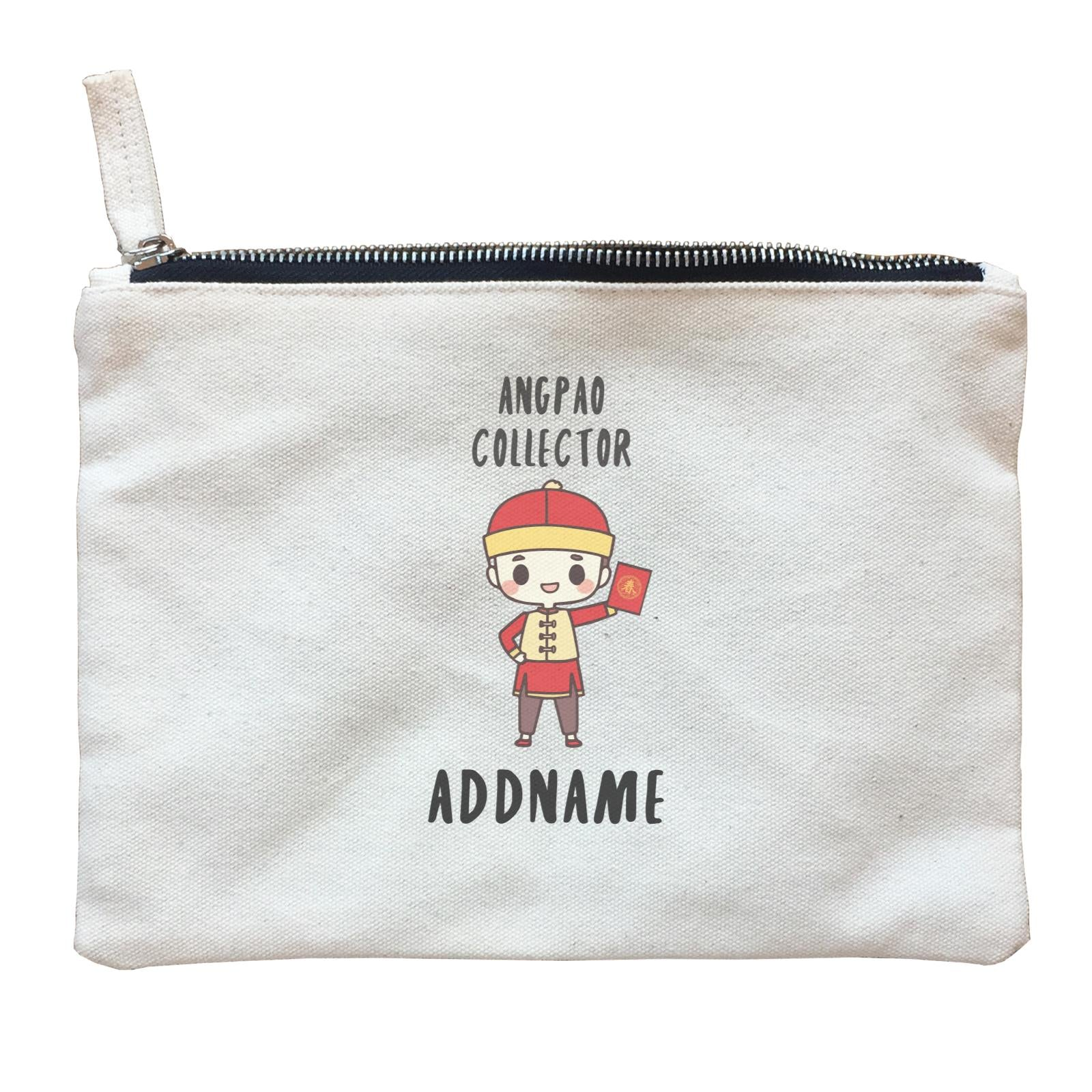 Chinese New Year Cute Boy Ang Pao Collector Zipper Pouch