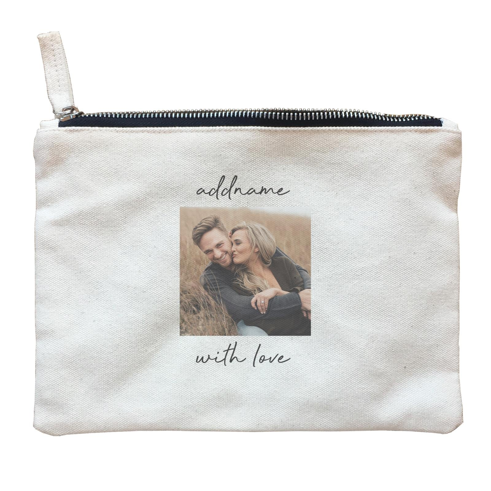 Photo Gift Series Simple Square Frame Zipper Pouch