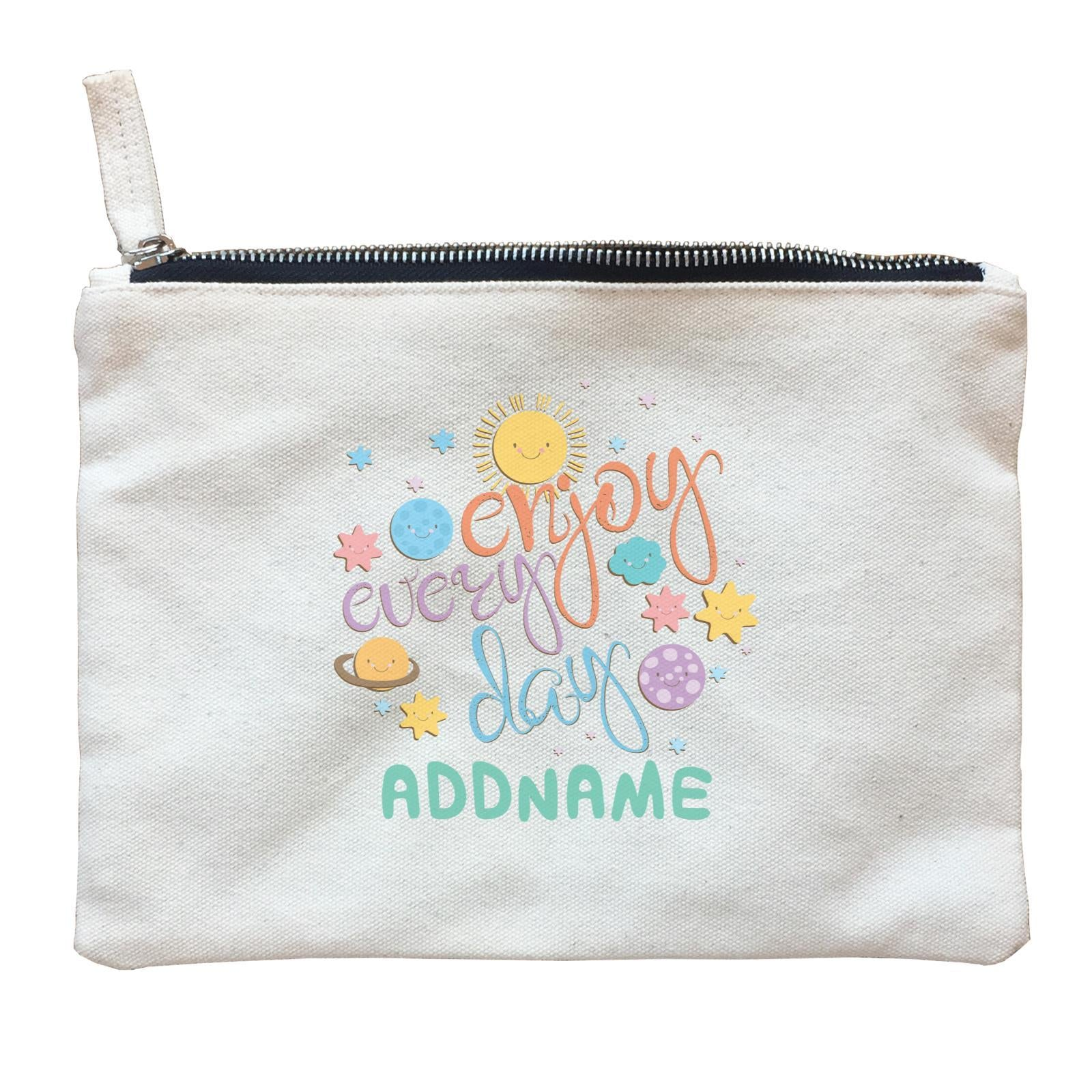 Children's Day Gift Series Enjoy Every Day Space Addname  Zipper Pouch