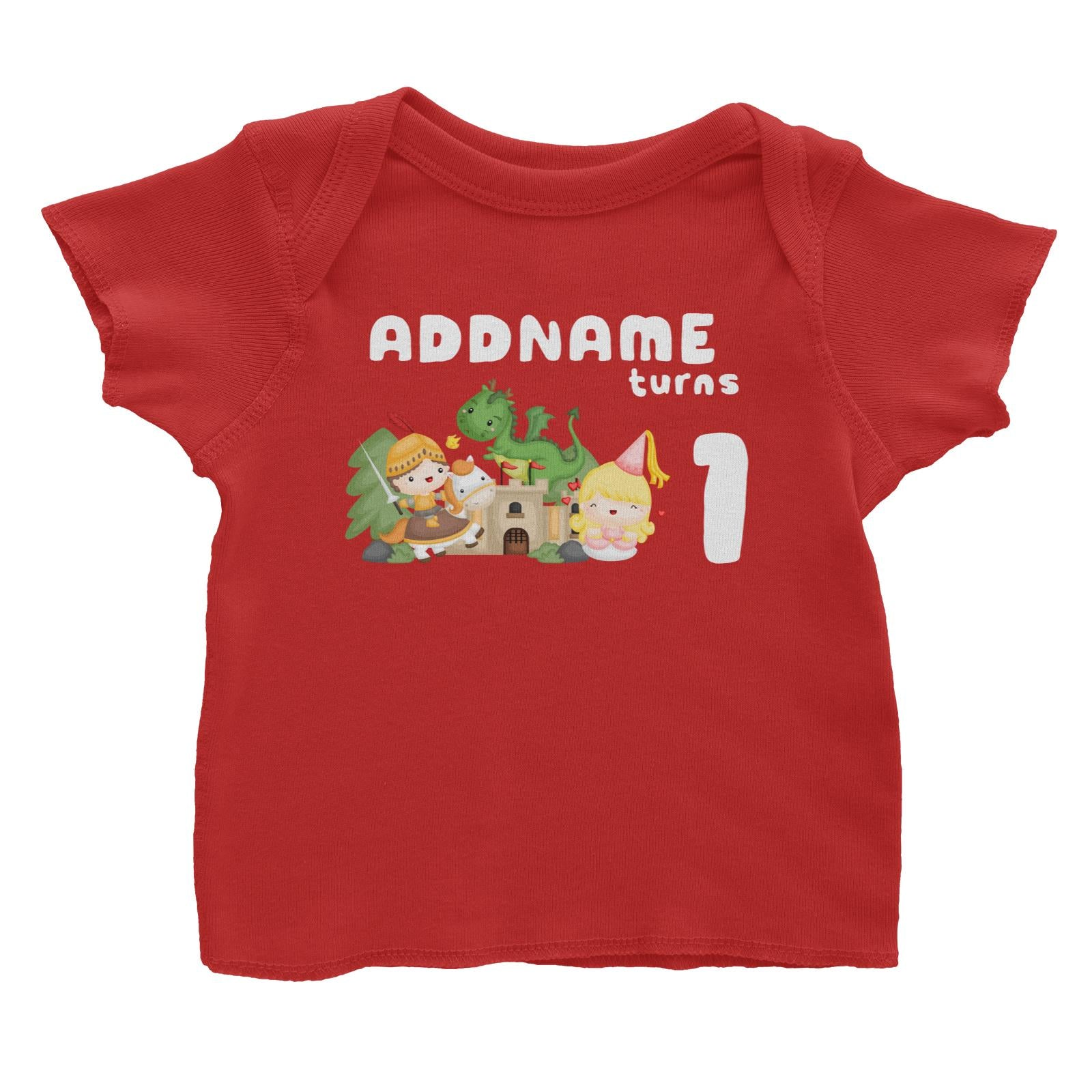 Birthday Royal Group Addname Turns 1 Baby T-Shirt