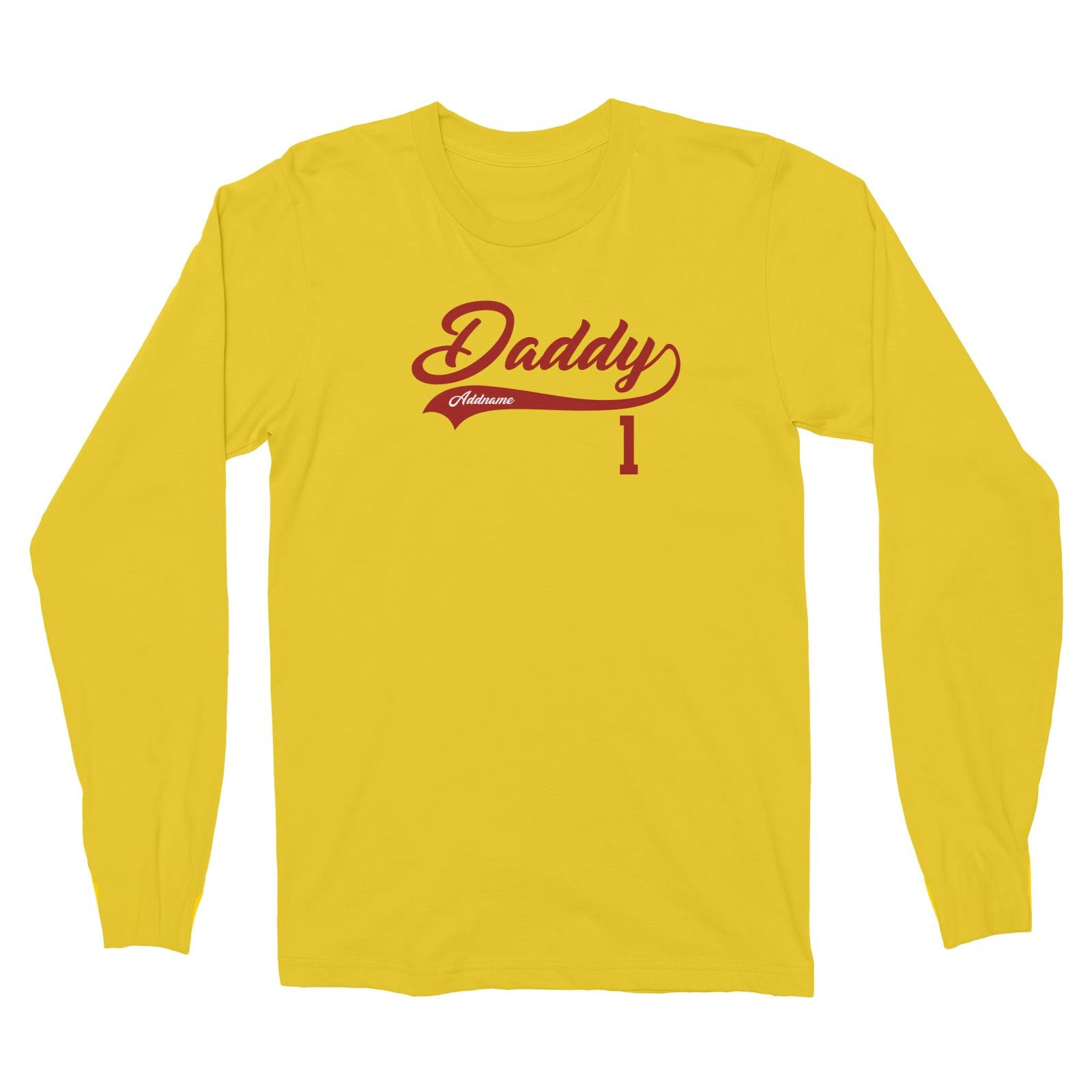 Daddy Retro No 1 Baseball Team Long Sleeve Unisex T-Shirt