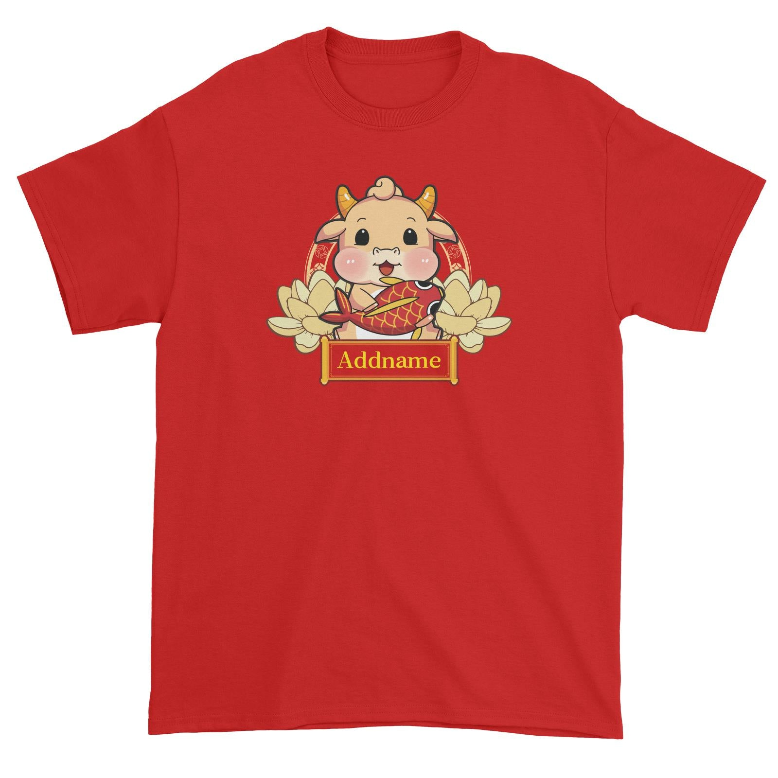 [CNY 2021] Gold Lotus Series Golden Cow with Koi Fish Unisex T-Shirt