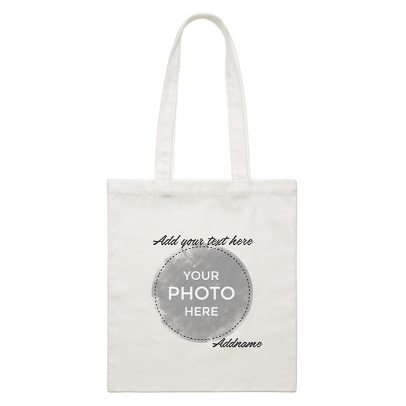 Custom Your Own Watercolor Design Addname White Canvas Bag