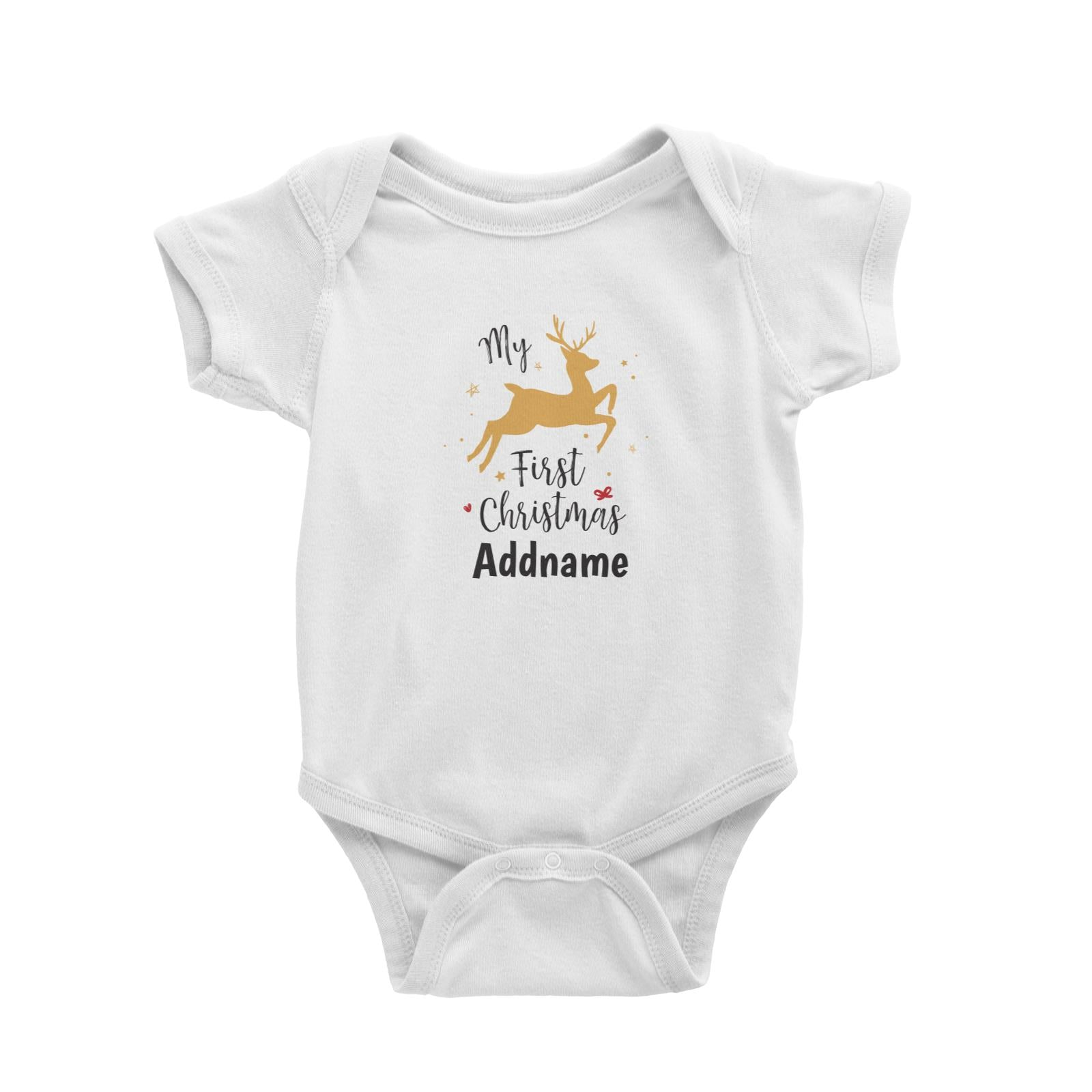 Christmas Series My First Christmas Leaping Deer Baby Romper