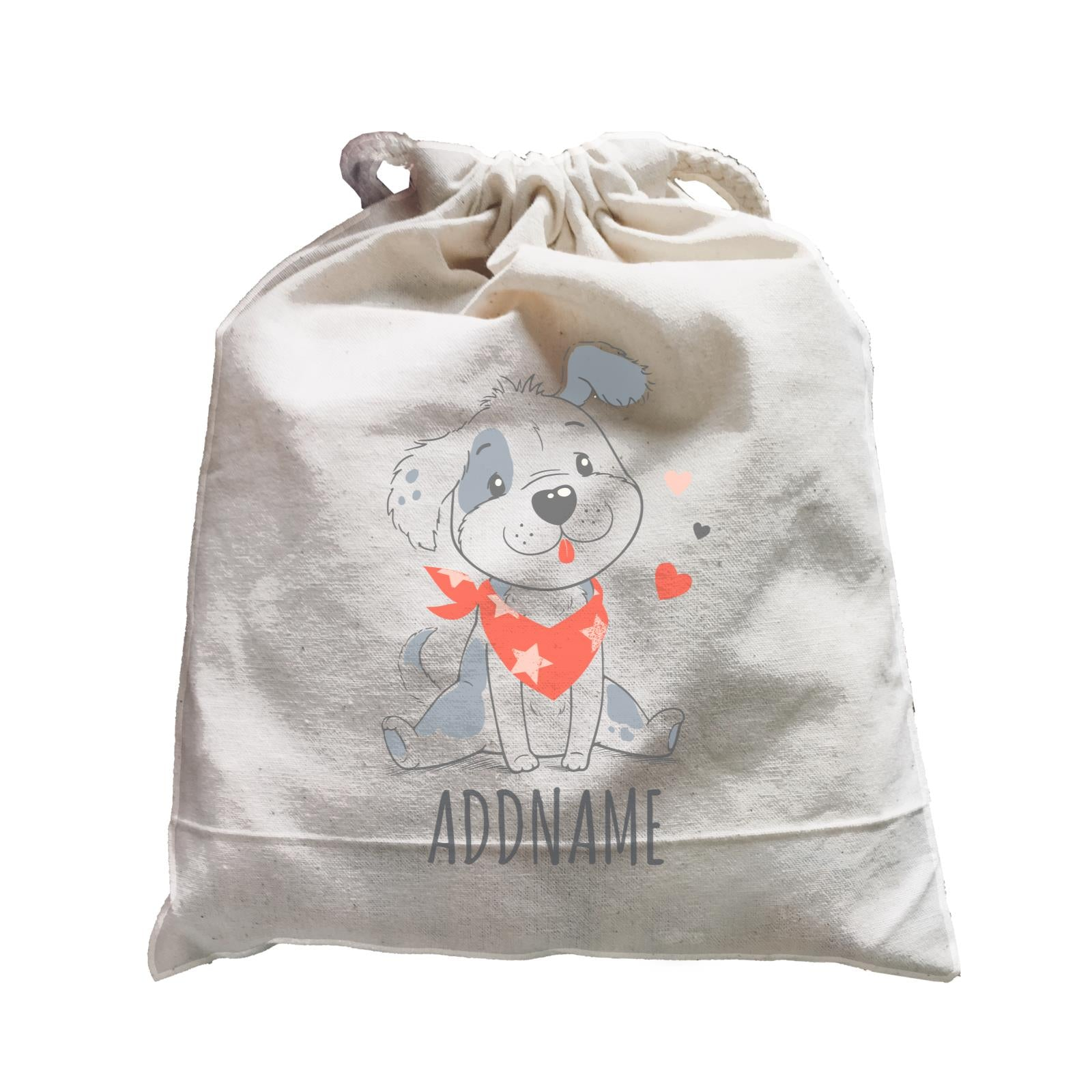 Dog with Scarf Satchel Personalizable Designs Cute Sweet Animal HG