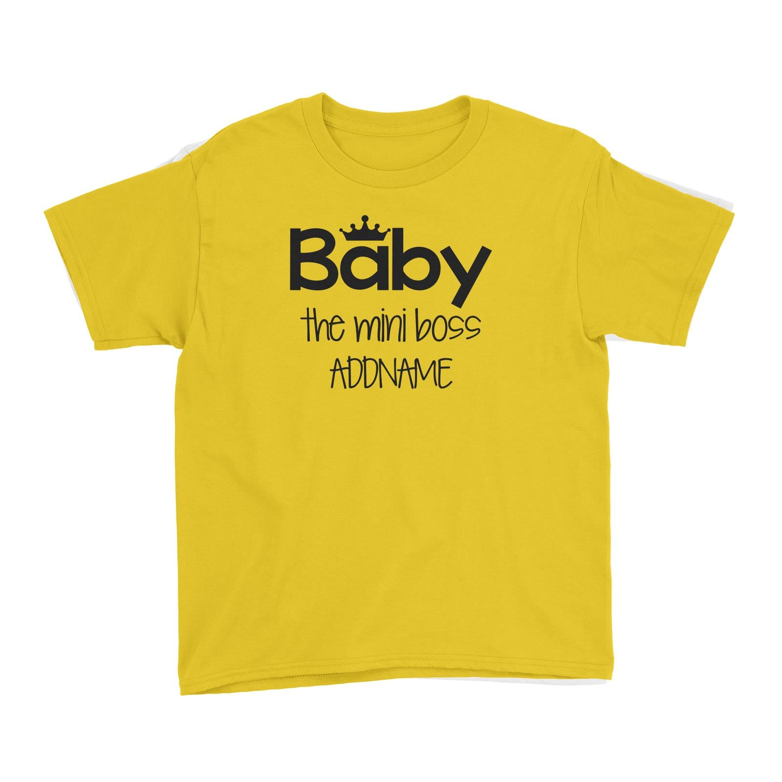 Baby with Crown The Mini Boss Kid's T-Shirt