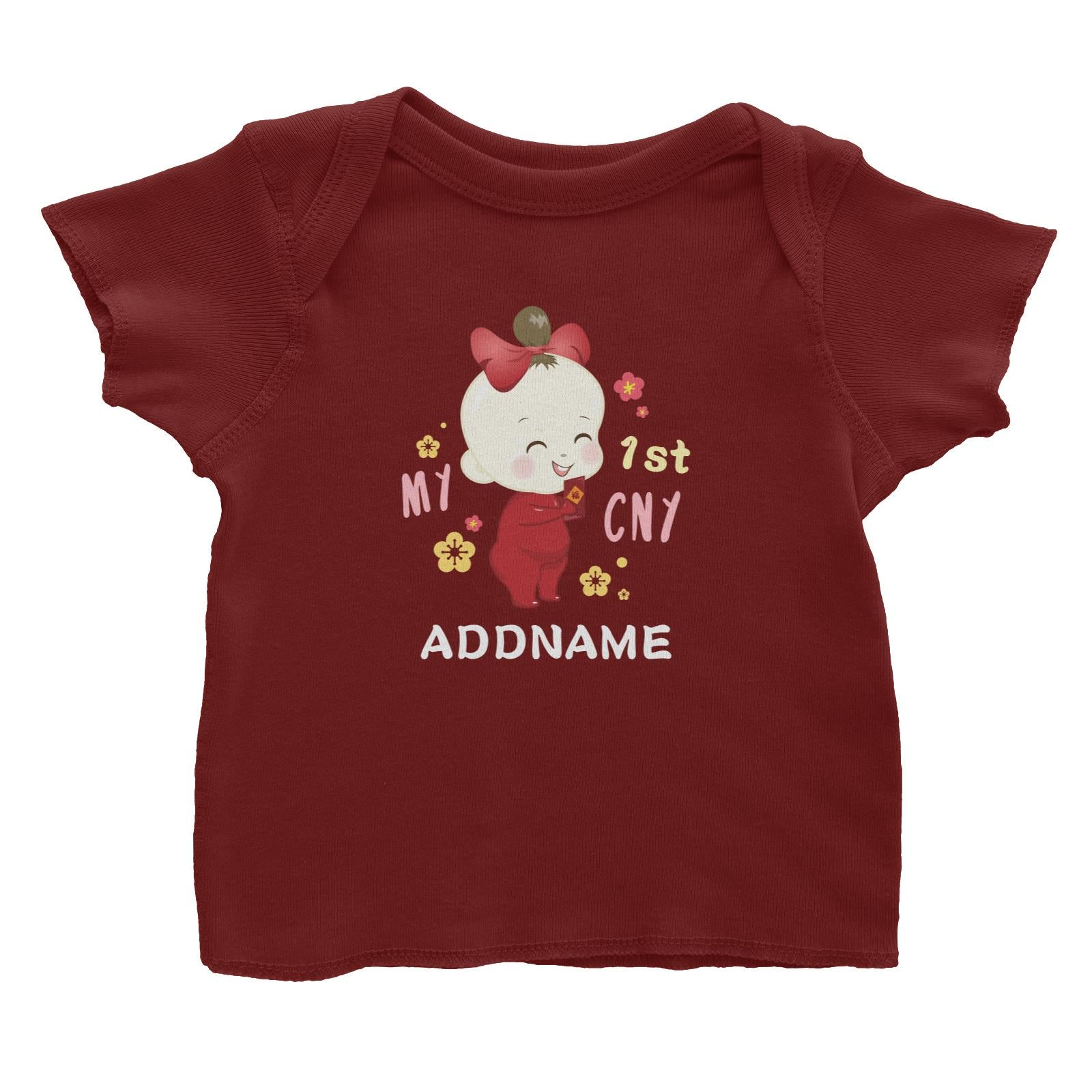 Chinese New Year Family My 1st CNY Baby Girl Addname Baby T-Shirt