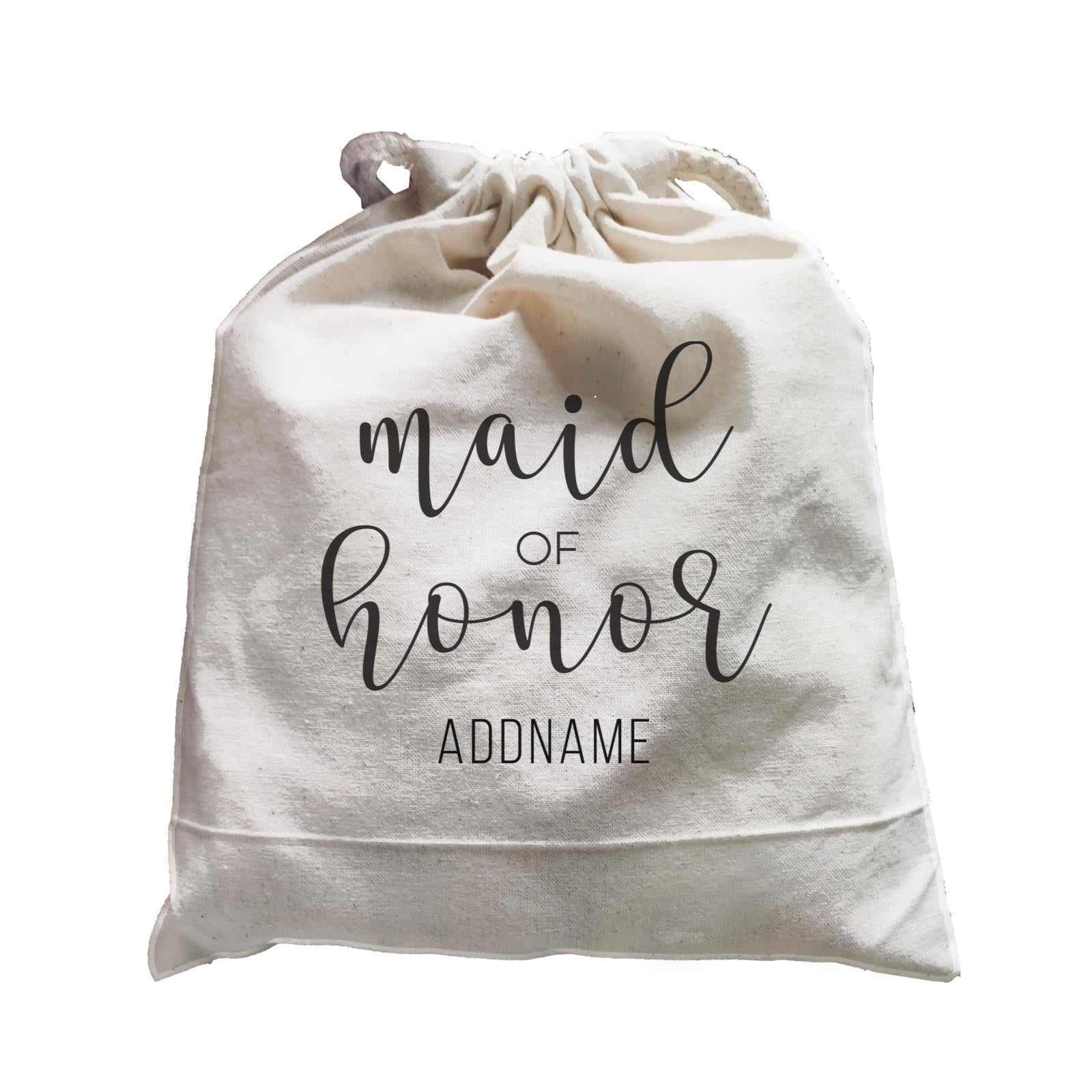 Bridesmaid Calligraphy Maid Of Honour Subtle Addname Satchel