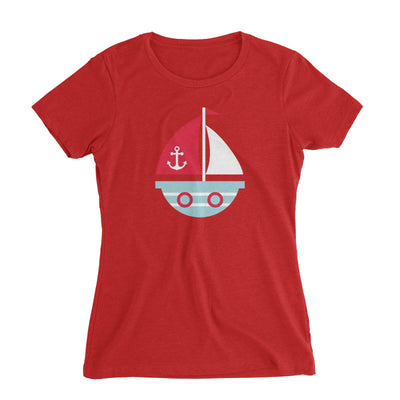 Sailor Boat Women's Slim Fit T-Shirt  Matching Family Personalizable Designs