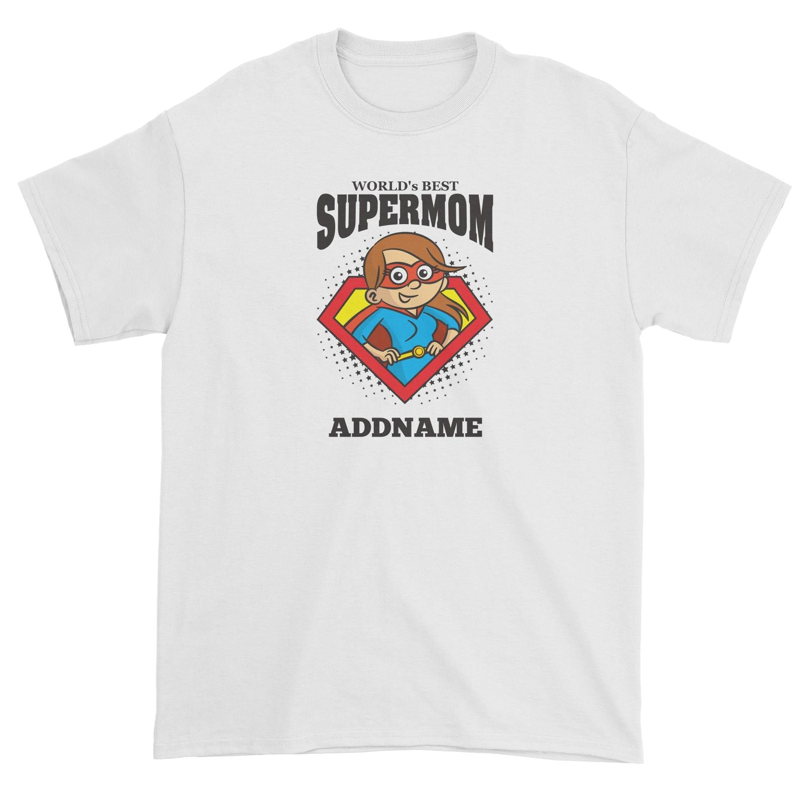 Best Mom Supermom (FLASH DEAL) Unisex T-Shirt Personalizable Designs Matching Family Superhero Family Edition Superhero