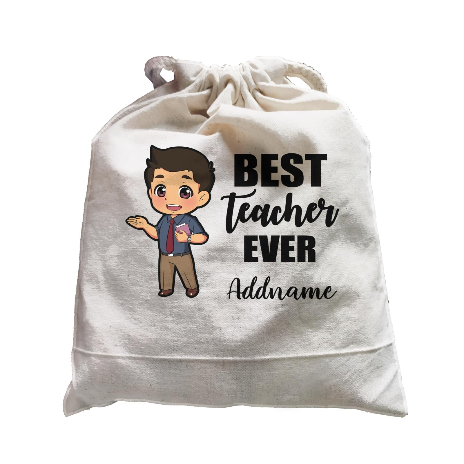 Chibi Teachers Malay Man Best Teacher Ever Addname Satchel