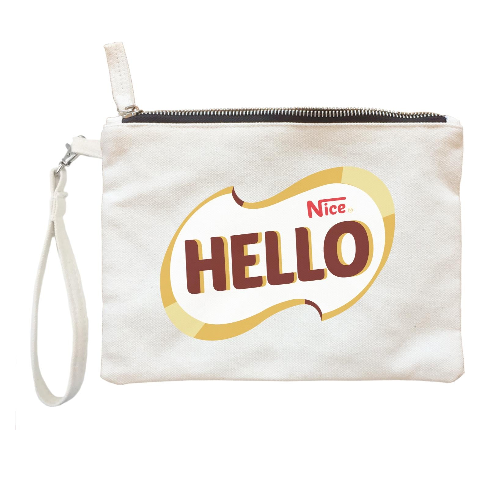 Slang Statement Hello Nice Accessories Zipper Pouch with Handle