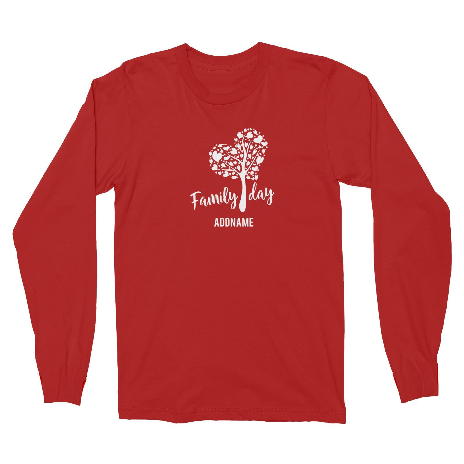 Family Day Love Tree With Love Leaves Family Day Addname Long Sleeve Unisex T-Shirt