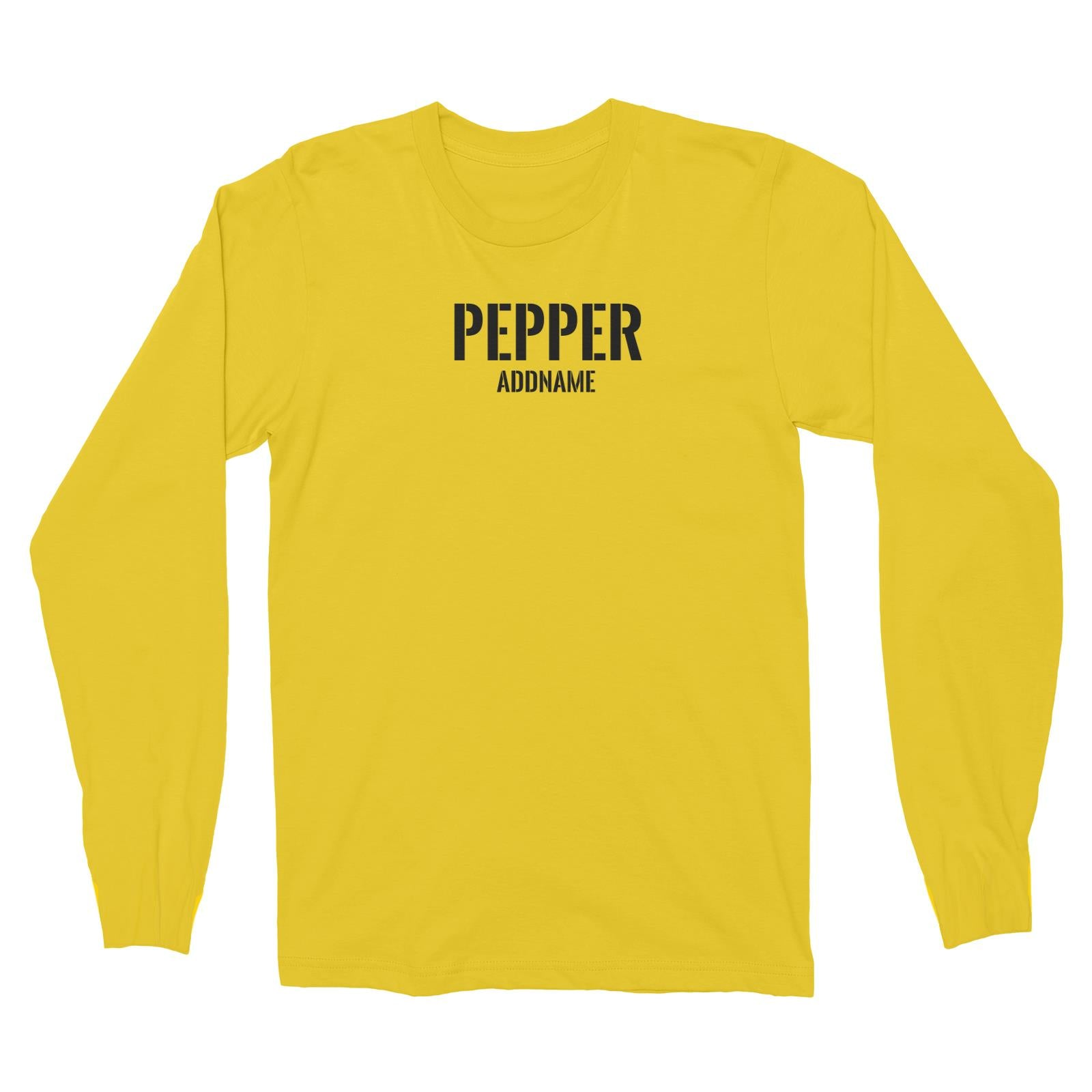 Couple Series Pepper Addname Long Sleeve Unisex T-Shirt
