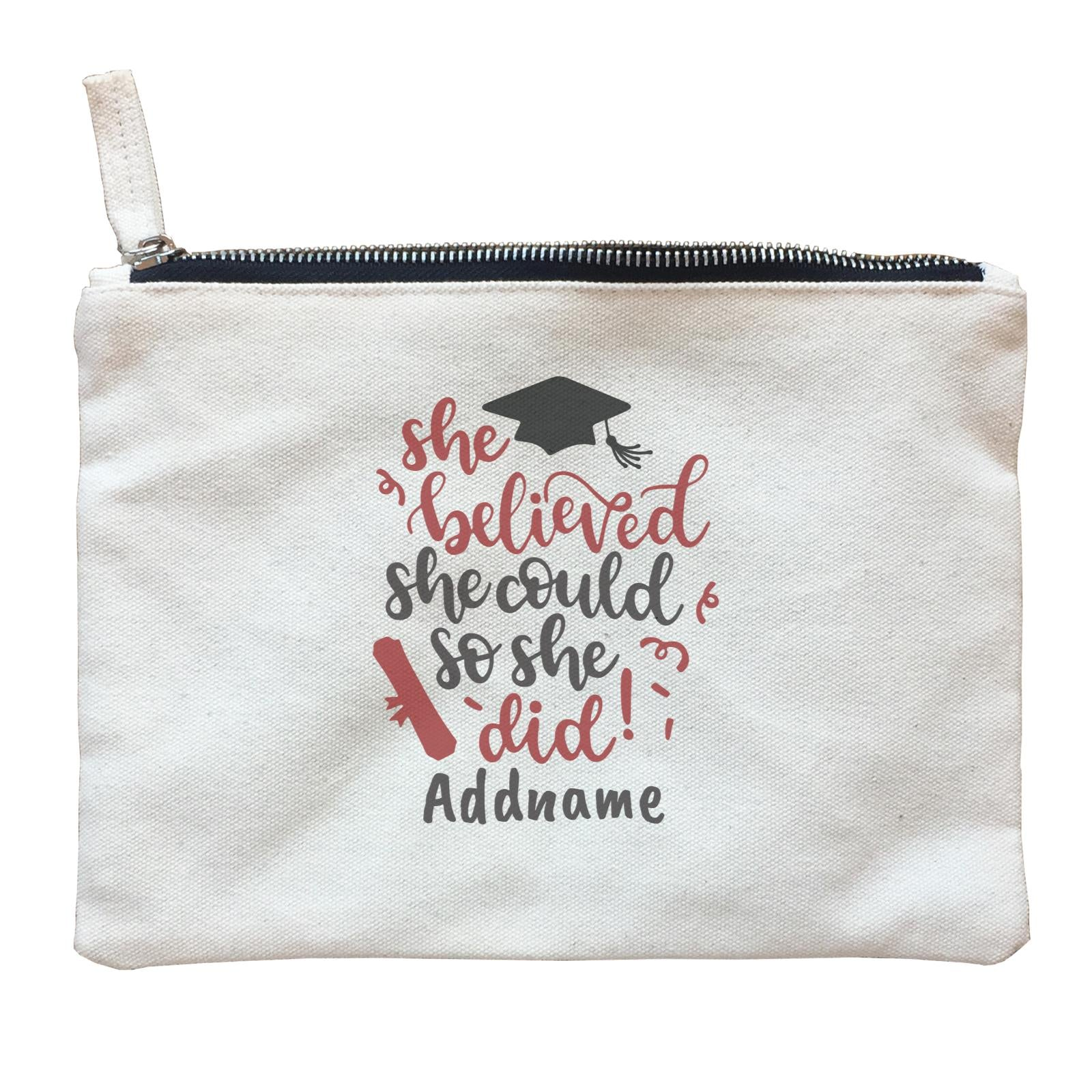Graduation Series She Believed She Could So She Did Zipper Pouch